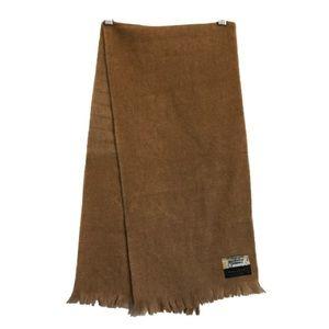Brown/Tan Merino Wool Tassle Scarf